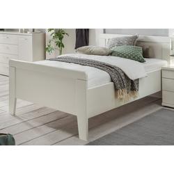 Seniorenbett, höhenverstellbares Komfortbett weiß
