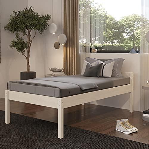 Stabiles Einzelbett für Senioren 120x200 cm Triin Scandi Style