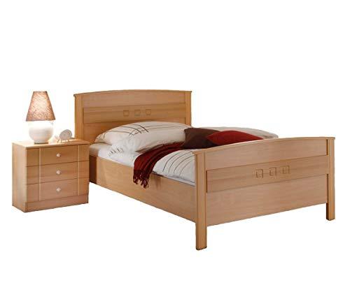Komfortbett Seniorenbett Buche Dekor 100×200 - 2