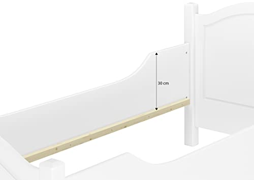 Seniorenbett extra hoch waschweiß 100×200 - 6
