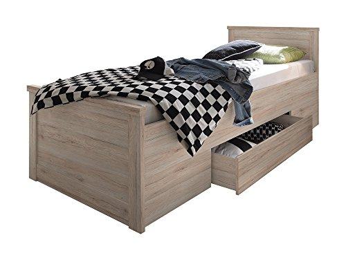 Komfortbett Einzelbett 100×200 cm Eiche - 4