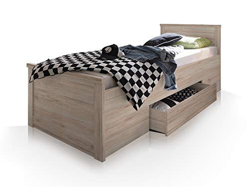 Komfortbett Einzelbett 100×200 cm Eiche - 5