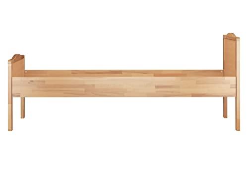 60.70-10 Seniorenbett Buche extra hoch, 100×200 cm, mit Rollrost - 5