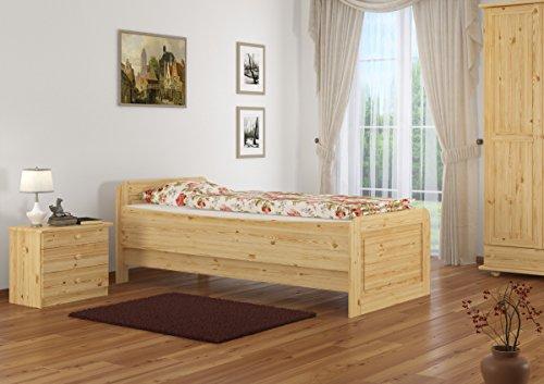 60.42-09 Seniorenbett Massivholz 90 x 200 cm, extra hohes Bett - 3