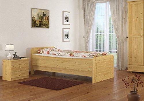 60.42-12 M Seniorenbett Massivholz 120 x 200 cm, extra hohes Bett mit Matratze - 2