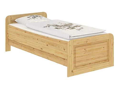 60.42-12 M Seniorenbett Massivholz 120 x 200 cm, extra hohes Bett mit Matratze - 3