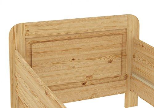 60.42-12 M Seniorenbett Massivholz 120 x 200 cm, extra hohes Bett mit Matratze - 6