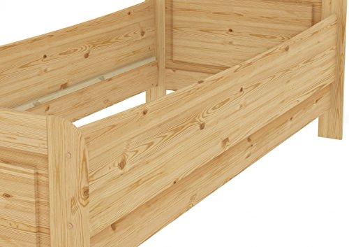 60.42-12 M Seniorenbett Massivholz 120 x 200 cm, extra hohes Bett mit Matratze - 7