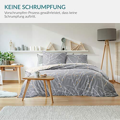 Bedsure Baumwolle Bettwäsche 135×200 cm - 4