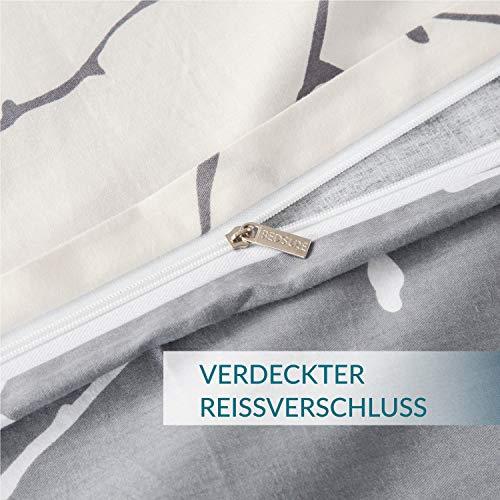 Bedsure Baumwolle Bettwäsche 135×200 cm - 5