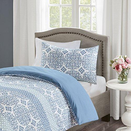 Bettwäsche 135x200cm 2-teilig Bettbezug Kissenbezug 80x80cm Blau Ornamente Weiche Mikrofaser Geometrisch Sybil Ideal für Schlafzimmer - 2