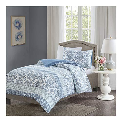 Bettwäsche 135x200cm 2-teilig Bettbezug Kissenbezug 80x80cm Blau Ornamente Weiche Mikrofaser Geometrisch Sybil Ideal für Schlafzimmer - 3