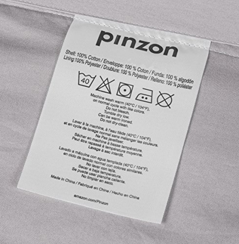 Pinzon Bettwäsche-Set mit Quetschfalten, Grau - 6