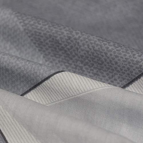 KEAYOO Bettwäsche Grau Weiß 135x200 Geometrische Wendebettwäsche 100% Bauwolle 2 Teilig Set mit Reißverschluss - 8