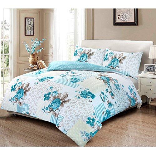 Bettwäsche-Set aus 100 % Baumwolle, Motiv Rose