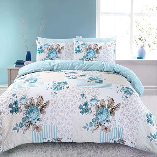 Bettwäsche-Set aus 100 % Baumwolle, Motiv Rose - 2