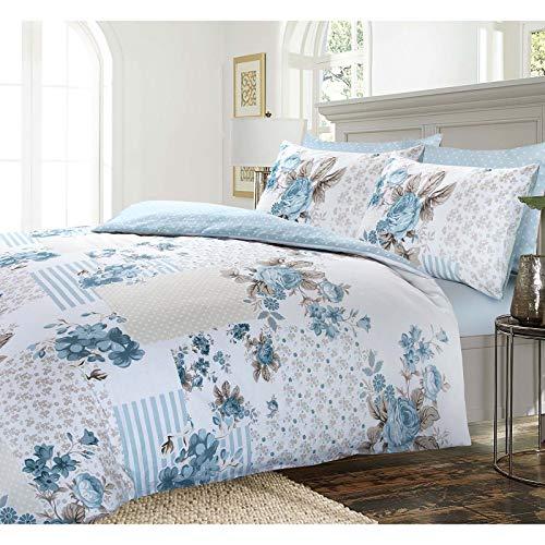 Bettwäsche-Set aus 100 % Baumwolle, Motiv Rose - 5