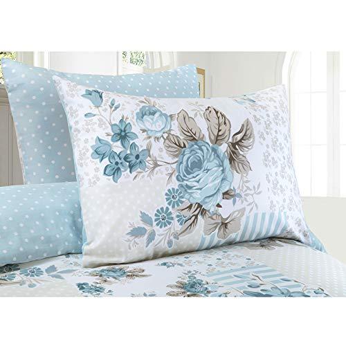 Bettwäsche-Set aus 100 % Baumwolle, Motiv Rose - 4