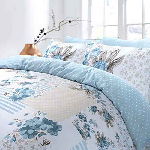 Bettwäsche-Set aus 100 % Baumwolle, Motiv Rose - 3