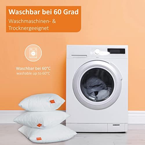 sleepling Basic 100 Kopfkissen Set 40 x 80 cm, weiß - 6