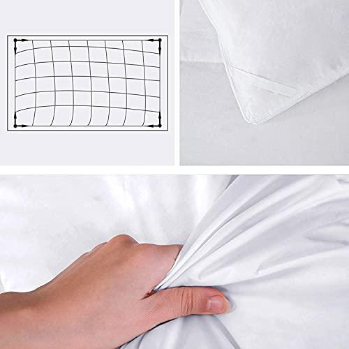 Umi. Essentials Luxus Warme Gänsefedern und Daunen Winterbettdecke Extra Warm, 100% Baumwolle Shell Steppdecke, Bettdecke 200x200cm - 3