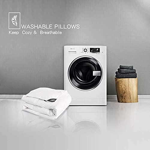 Umi. Essentials Luxus Warme Gänsefedern und Daunen Winterbettdecke Extra Warm, 100% Baumwolle Shell Steppdecke, Bettdecke 200x200cm - 7