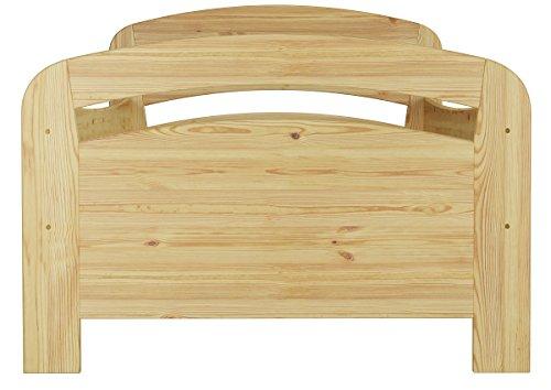 Seniorenbett Kiefer massiv extra hoch, 90×200 cm - 5