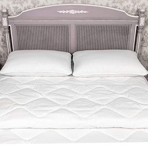Estihemp Natur Hanf Bettdecke 140x200 cm Leichte Steppdecke Atmungsaktiv Ideale Decke für den Sommer aus Naturfasern, Weiß - 4