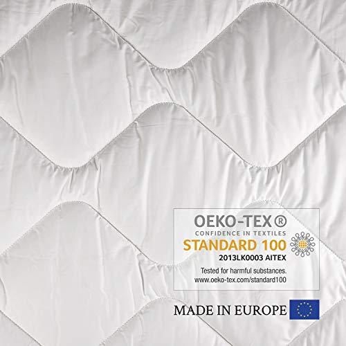 Estihemp Natur Hanf Bettdecke 140x200 cm Leichte Steppdecke Atmungsaktiv Ideale Decke für den Sommer aus Naturfasern, Weiß - 5