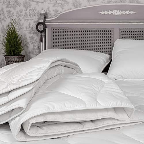 Estihemp Natur Hanf Bettdecke 140x200 cm Leichte Steppdecke Atmungsaktiv Ideale Decke für den Sommer aus Naturfasern, Weiß - 6