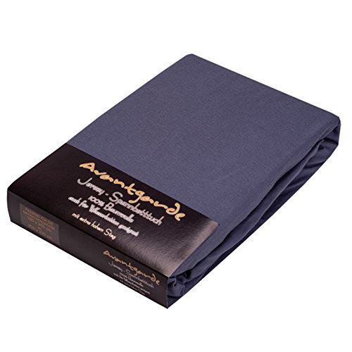 SPANNBETTLAKEN FÜR WASSERBETT & BOXSPRINGBETT – EXTRA HOHER Steg – 180×200-200×220 – ca. 170g/m² – Öko Tex Zertifikat – Avantgarde-Bettlaken – 100% Jersey-Mako-Baumwolle (19-dunkelgrau) - 4