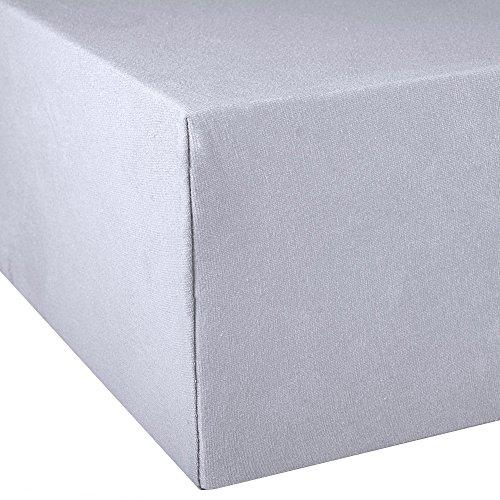 Exclusives Spannbettlaken Doppelpack 90×200-100×220 Silber grau - 2