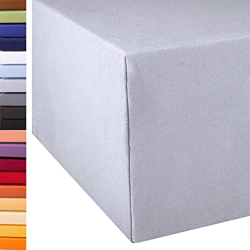 Exclusives Spannbettlaken Doppelpack 90×200-100×220 Silber grau - 4
