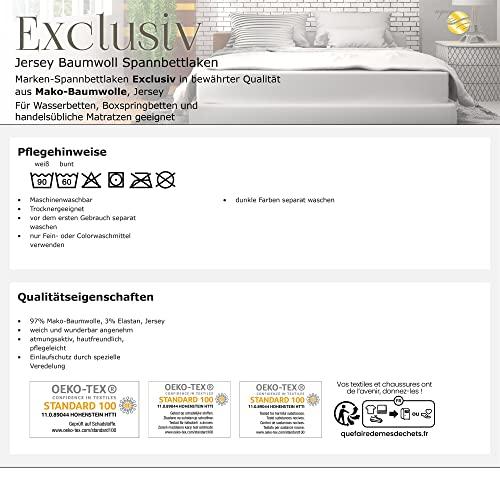 Exclusives Spannbettlaken Doppelpack 90×200-100×220 Silber grau - 5