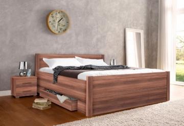Komfortbett, dunkelbraun, 180/200cm,