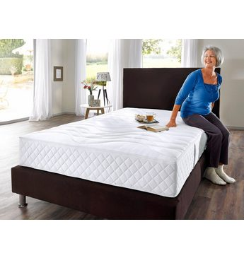 Taschenfederkernmatratze »Senioren 55 plus«, my home, 25 cm hoch, 420 Federn, (1-tlg), Mit Sitzkantenverstärkung